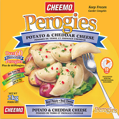 CHEEMO Perogies - Potato & Cheddar Cheese - 2 kg