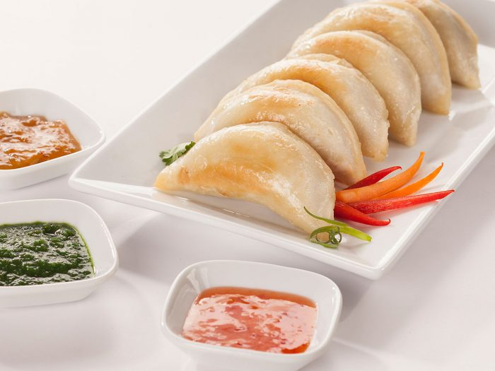 Recipe Curry Perogies with Zesty Dips